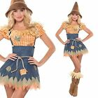 Adult Wizard Sultry Scarecrow Costume Sexy Ladies Fancy Dress Outfit New UK 8-16