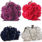 Ladies Diamante Evening Bags Clutchs Crystal Designer Handbag Wedding Bridal 327