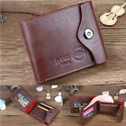 Bifold Wallet Men Genuine Leather Brown Credit/ID Card Holder Slim Purse