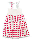 Girl's Gatti Pink Polka Spots Strappy Summer Cotton Dress 8 to 16 Years NEW