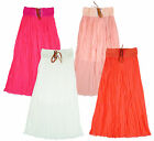 Girl's Lined Chiffon Pleat Maxi Summer Fashion Gypsy Skirt 3 to 14 Years NEW