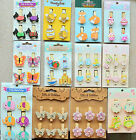 4 or 6 PCS Themed Wooden Pegs for Crafting and Special Occasions 12 Options NEW