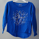 NWT $24 Girls Toddler DKNY DGH32982 Star Tee Shirt Galaxy Blue