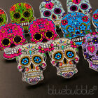 FUNKY MEXICAN SUGAR SKULL EARRINGS EVIL ZOMBIE DAY OF THE DEAD EMO GOTHIC KITSCH