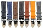 18,19,20,20,21,22,24MM LEATHER BAND STRAP SMOOTH DEPLOYMENT CLASP FOR SONY 3B