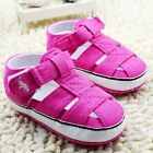 Infant Baby girl rose red crib shoes sandals shoes size 0-6 6-12 12-18 months