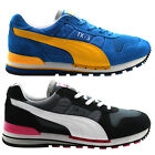 Puma TX-3 Adults Low Top Unisex Trainers Leather Blue Black Running 341044