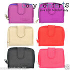 Leather Style Purse with Zipped Coin Section (Lilac, Red, Taupe, Black, Purple)