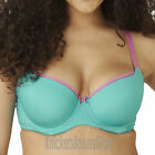 Panache Cleo Maddie Spot Moulded Balcony T Shirt Bra Teal 7881 NEW Select Size