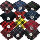 Tartanista Men's  Kilt Fly Plaid With Thistle Brooch - 12 Tartans