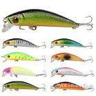 8pcs/Lot Minnow Lure Floating Fishing Lures Bass CrankBaits Rattles Treble Hooks