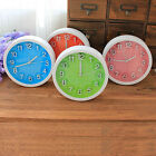 Candy Color Home Office Mini Desk Clock Round Face Plastic Digital Alarm Clock