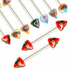 2P straight barbell eyebrow tragus ring lip bar piercing 9CSL-SELECT DESIGN&SIZE