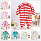 Newborn Baby Clothes Long Sleeves Romper Jumpsuit Sleepsuit Outwear Join Foot