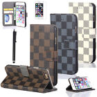 Luxury Fashion Leather Wallet Card Flip Case Cover For Apple iPhone 6 /6 Plus SE