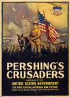 Pershing's Crusaders United States Government War Vintage Poster Repro FREE S/H