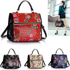 Ladies Quality Floral Print Grab Bags Women's Faux Crocodile Skin Satchel Tote