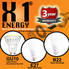 X1 ENERGY LED BULBS GU10 SPOT B22 BAYONET E27 EDISON SCREW (DIMMABLE OR NON DIM)