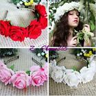 Rose Flower Boho Style Beach Headband Wedding Festival Floral Garland Hairband Z