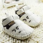 Toddler Baby boy white Sandals crib shoes size 0-6 6-12 12-18 Month