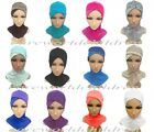 Cotton Lace Crossover Full Cover Caps Muslim Inner Hijabs Islamic Underscarf Hat