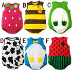Size 3-24Month Baby Boys Girls Animal Costume Bodysuit Outfit Romper Clothes Set