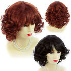 Wiwigs Lovely Short Curly Black Brown Red Summer Style Skin Top Ladies Wigs