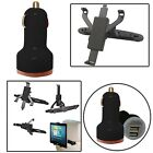 UNVRSL 3 WAY HEADREST BACK SEAT CAR HOLDER WITH TWIN BULLET  FOR 2014/15 TABLETS