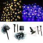 21 Ft 50 LED Solar Powered Blossom String Lights Waterproof Decorative Gardens