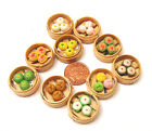 1:12 Single Dim Sum Selection In A Bamboo Basket Dolls House Miniature Kitchen