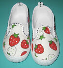 NEW Girl Strawberry Canvas Shoe Size US 8 to older 2