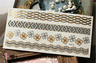 1 Sheet Temporary Disposable Metallic Tattoo Gold Silver Black Flash Tattoos New on Rummage