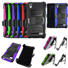 Phone Case For Straight Talk Huawei Pronto LTE Rugged Cover Stand Holster Clip