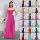 Long Chiffon Bridesmaid Wedding Evening Formal Party Ball Gown Prom Dress 6-26
