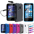 S LINE WAVE GEL CASE - CAR CHARGER - SCREEN PROTECTOR FOR NOKIA LUMIA 620