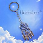 FUNKY DREAMCATCHER KEYRING NEW AGE SUN MOON GOOD LUCK WISH 60s 70s BOHO FESTIVAL
