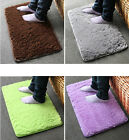 Plush Velvet Slip Mats Dust Doormat Absorbent Bathroom Floor Rug Washable #AU JR