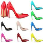 New Womens Stilettos Shoes Pointed Toe High Heels Party Prom Shoes Colors Size