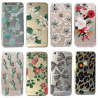 New Simple Flower Patterns Clear Soft Phone Case Cover For iPhone 5S 5C 6 6 Plus