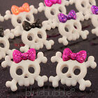 FUNKY 25mm SKELETON SKULL EARRINGS SWEET FUN CANDY GOTH RETRO COOL EMO HALLOWEEN