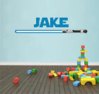 Lightsaber Star Wars Personalised Name Sticker Wall Art Decal