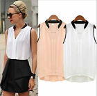 2015 Sexy Fashion Women Casual Sleeveless T-Shirt Chiffon Loose Vest Tank Blouse