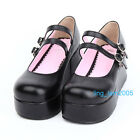 #8029B Sweet Gothic Punk KERA LOLITA shoes DOLLY Punk platform shoes 8cm heel