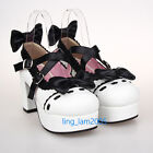 #9829W Sweet Gothic Punk KERA LOLITA shoes DOLLY Punk platform shoes 8cm heel