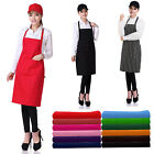 Plain Apron With Pocket for Chefs Butchers Kitchen Cooking Craft Black Blue Red