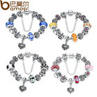 Variety Colour European Silver Bracelets With Crown Charms For Women DIY Jewelry