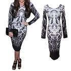 New Women Bodycon Bandage Long Sleeve Slim Cocktail Party Clubwear Dress 3T47
