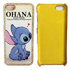 Cartoon Ohana Quotes Lilo Stitch Jewelled Crystal Case Cover For iPhone 5 5C 6