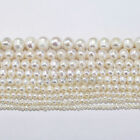 15'' Rice White Freshwater Natural Round Real Pearl Loose Beads 4/5/6/7/8/9/10mm