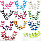 NEW 12Pcs Art 3D Butterfly Design Decal Wall Home Decor Removable Decorations